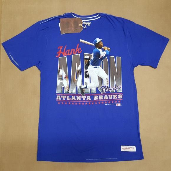 pretty nice 76668 a4e17 Mitchell & Ness Hank Aaron Braves T-Shirt size M